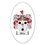 Morse Family Crest Oval Sticker