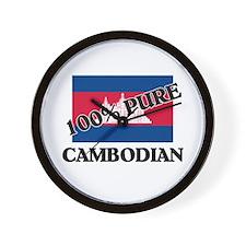 100 Percent CAMBODIAN Wall Clock