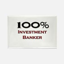 100 Percent Investment Banker Rectangle Magnet