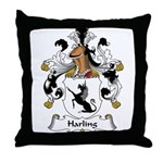 Harling Family Crest Throw Pillow