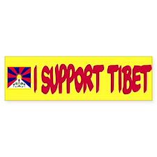Yellow Support Bumper Bumper Sticker