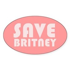 SAVE BRITNEY Oval Decal