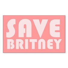 SAVE BRITNEY Rectangle Decal