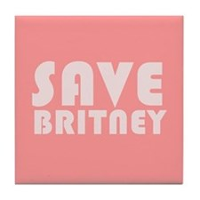 SAVE BRITNEY Tile Coaster
