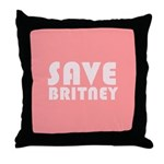 SAVE BRITNEY Throw Pillow
