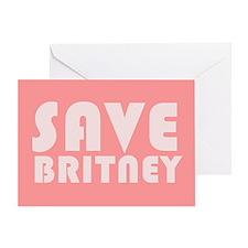 SAVE BRITNEY Greeting Card