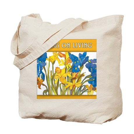 Daffodil & Iris Focus on Living Tote Bag