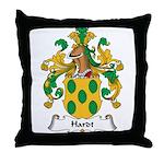 Hardt Family Crest Throw Pillow