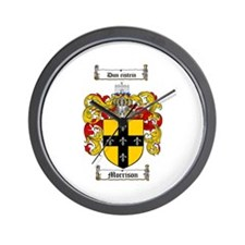 Morrison Family Crest Wall Clock