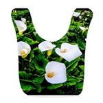Field of Calla Lily Flowers Polyester Baby Bib