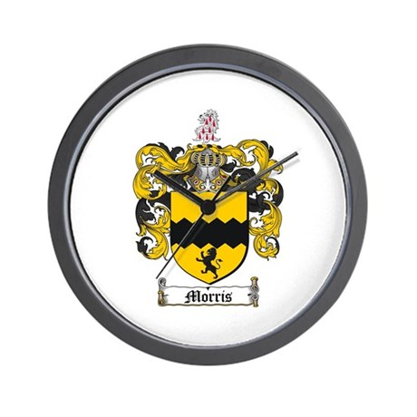 Morris Family Crest Wall Clock