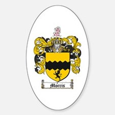 Morris Family Crest Oval Decal