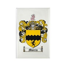 Morris Family Crest Rectangle Magnet (10 pack)