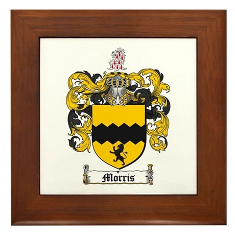 Morris Family Crest Framed Tile