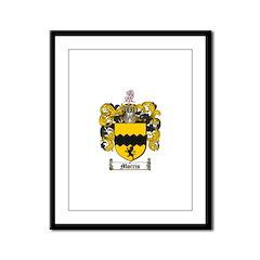 Morris Family Crest Framed Panel Print