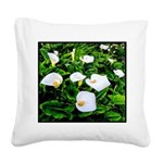 Field of Calla Lily Flowers Square Canvas Pillow