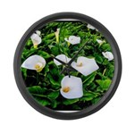 Field of Calla Lily Flowers Large Wall Clock