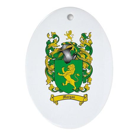 Morgan Family Crest Oval Ornament