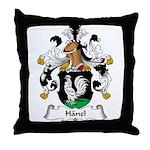Hanel Family Crest Throw Pillow