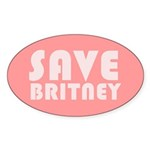 SAVE BRITNEY Oval Sticker (10 pk)