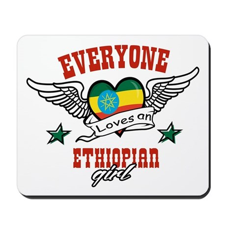 Everyone loves an Ethiopian girl Mousepad