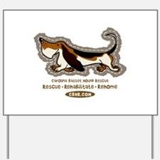Cool Bassett hounds Yard Sign