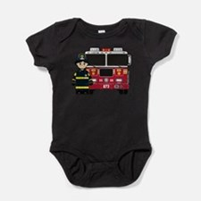 Firefighter and Fire Engine Bodysuit Body Suit