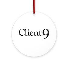 Client 9 Elliot Spitzer Ornament (Round)