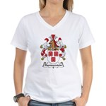 Hammerstein Family Crest Women's V-Neck T-Shirt