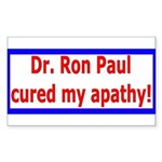 Ron Paul cure-4 Rectangle Sticker