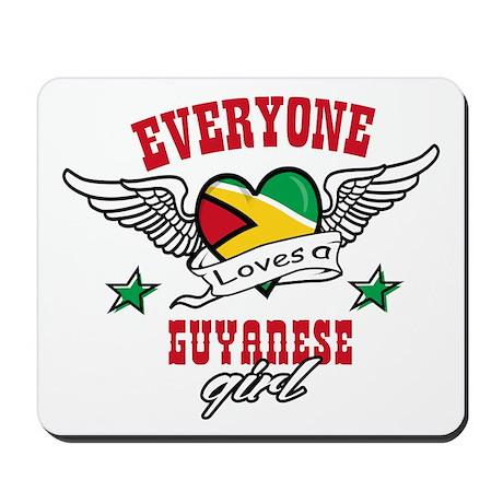 Everyone loves a Guyanese girl Mousepad