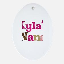 Kyla's Nana Oval Ornament