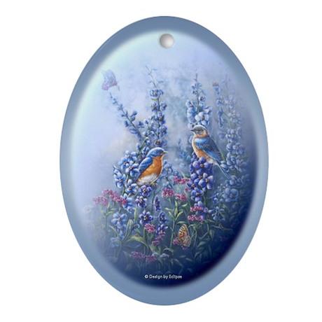 Easter Design Oval Ornament