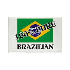 100 Percent BRAZILIAN Rectangle Magnet