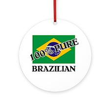 100 Percent BRAZILIAN Ornament (Round)