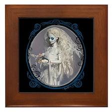 Dead Bride Portrait Framed Tile