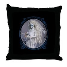 Dead Bride Portrait Throw Pillow