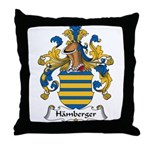 Hamberger Family Crest Throw Pillow