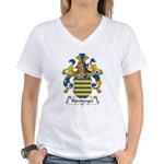 Hamberger Family Crest Women's V-Neck T-Shirt