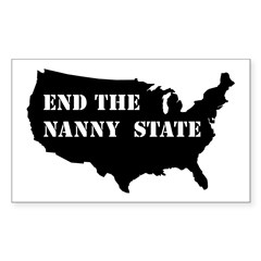 End The Nanny State Rectangle Sticker 50 pk)