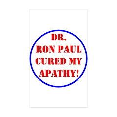 Ron Paul cure-2 Rectangle Sticker 50 pk)