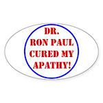 Ron Paul cure-2 Oval Sticker (10 pk)