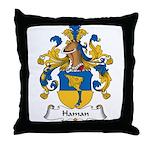 Haman Family Crest Throw Pillow