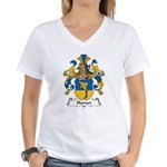 Haman Family Crest Women's V-Neck T-Shirt