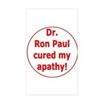 Ron Paul cure-3 Rectangle Sticker