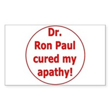 Ron Paul cure-3 Rectangle Decal