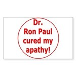 Ron Paul cure-3 Rectangle Sticker 50 pk)