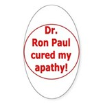 Ron Paul cure-3 Oval Sticker (50 pk)