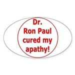 Ron Paul cure-3 Oval Sticker (10 pk)