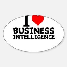 I Love Business Intelligence Decal